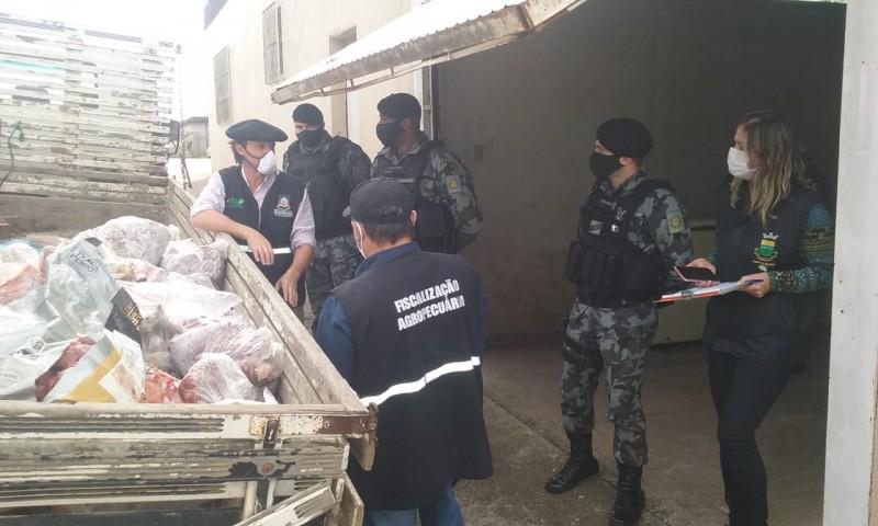 Operação foi ação conjunta da Brigada Militar, Polícia Civil, Vigilância Sanitária e Inspetoria Veterinária
