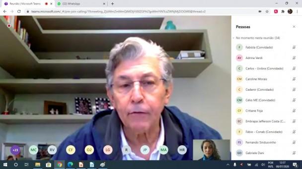 Reunião por videoconferência da Câmara Nacional Setorial da Cadeia Produtiva da Viticultura, Vinhos e Derivados