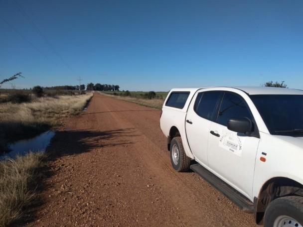 O monitoramento da nuvem está sendo feito pelos fiscais agropecuários na fronteira com a Argentina